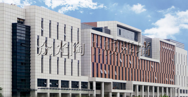 Ceramic plate curtain wall engineering case