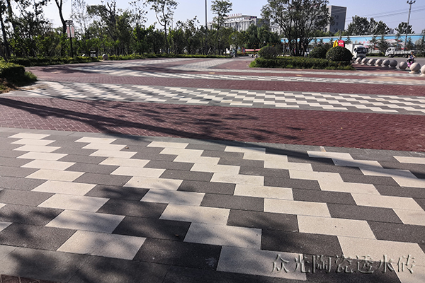 Ceramic Pervious Brick Pavement-Park